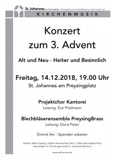 Adventskonzert in St. Johannes 14.12.2018